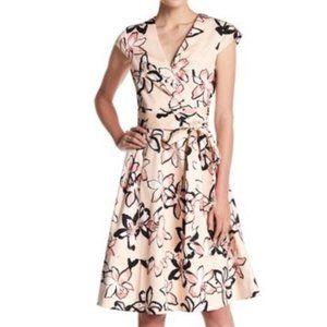 Kte Spade Tiger Lily Pink Wrap Dress